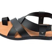 Сандалии мужские Ecco L30 черные (реплика)