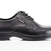 Кожаные классические туфли (014ч/1)
