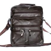 Кожаная удобная и вместительная сумка для мужчин (8091 к)