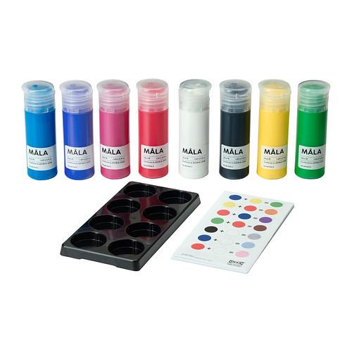Превосходный набор красок мола от икеа идеальный подарок ikea в наличии! фото №1
