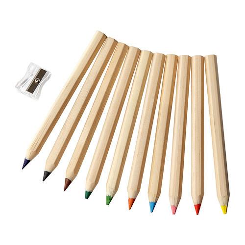 Супер цветные карандаши мола от икеа премиум качество ikea в наличии! фото №1