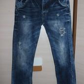 мужские рваные джинсы river island зауженые