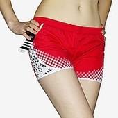 Спортивные женские шортики, материал плащевка, цвет красный размер ххл бедра 50