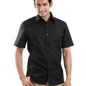 Легкая черная рубашка, Франция, Kiabi. Очень большой размер.