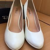 Туфли свадебные, натуральная кожа