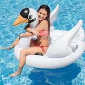 Детский надувной плотик Лебедь
