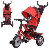 Трехколесный детский велосипед Turbo Trike M 3113-3 A на большом надувном колесе 3 положения спинки