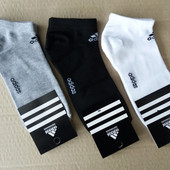 Мужские короткие носки, Adidas.асорти.