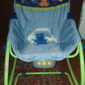 Музыкальный шезлонг, кресло, качалка с светом и вибрацией