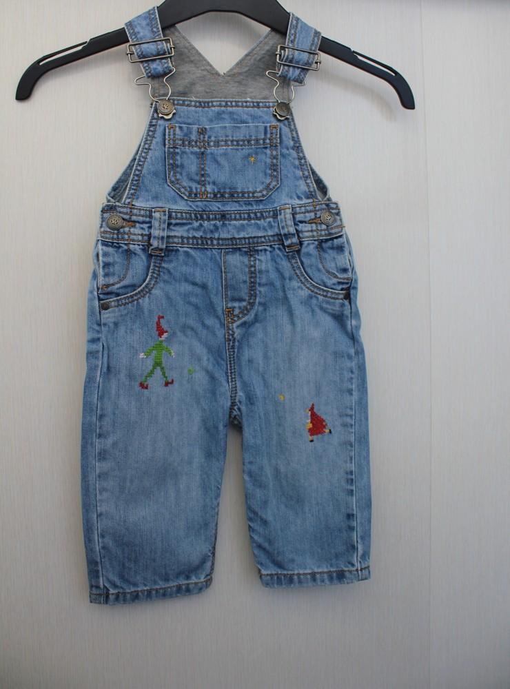 Джинсовый комбинезон, шорты 9м можно и дольше фото №1
