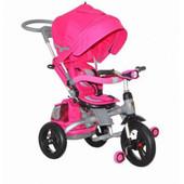 Акция!!Детский трёхколёсный велосипед-коляска Transformer Modi Azimut Фара air (6 в 1) розовый