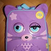 Музыкальный детский рюкзак. Мурчит, мяукает, шевелит глазами