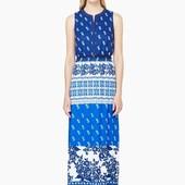 Новое длинное платье макси в пол Mango mng Манго летний сарафан с принтом р.М на высокий рост