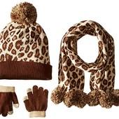 Набор шапка, шарф и перчатки, Pink Platinum
