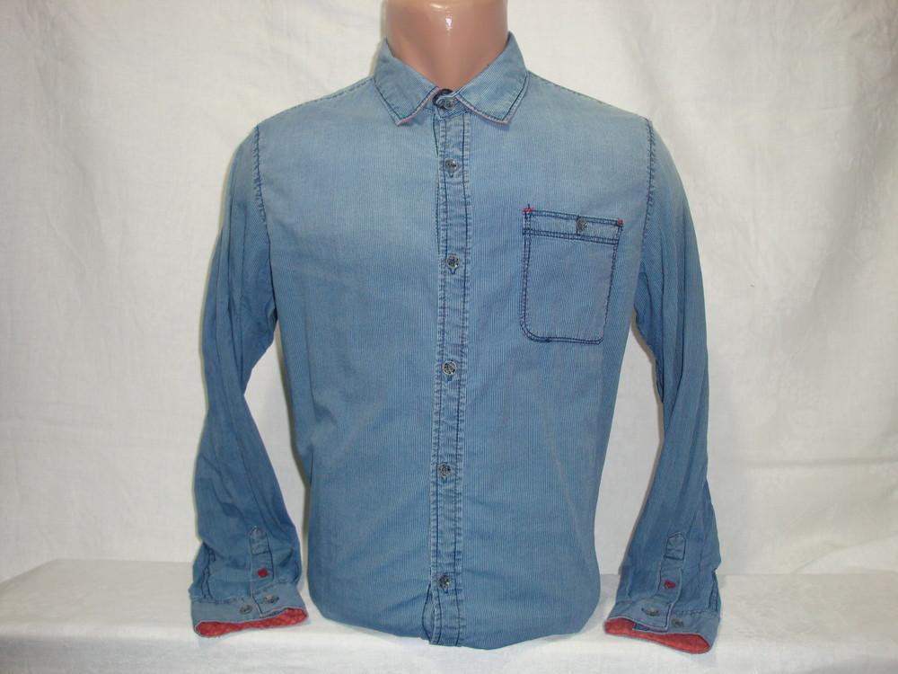 Мужская джинсовая рубашка с длинным рукавом YChromosome. Разные цвета. фото №1