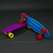 Скейт 780 Пенни борд, однотонный, без света, фиолетовый