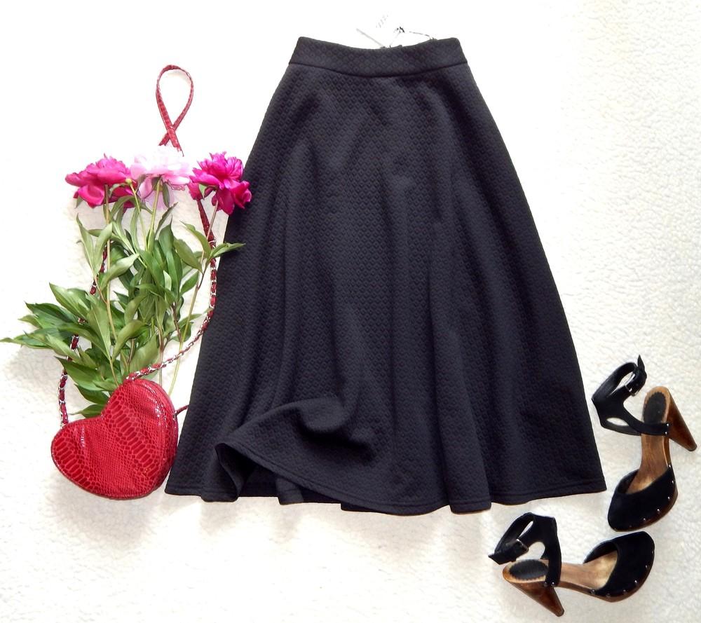 3a89be2693b Новая фактурная миди юбка-клеш с завышенной талией asos бронь фото №4
