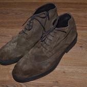 Р. 44 - 30,5 см. Oxmox Германия. Отличные туфли, ботинки, оксфорды мужские замшевые фирменные