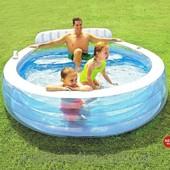 бассейн Intex 57190 со спинкой