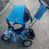 Детский трехколесный велосипед Azimut Trike Air BC-17 колеса на спицах