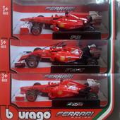 Автомоделі масштабу 1 до 43 болідів Formula-1 Ferrari від фірми Bburago