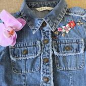 Джинсовое платье-рубашка для девочки от George