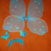 Наборчик ободок и крылышки для малышки 1-4 года
