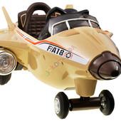 детский самолёт f/a 18: резиновые колёса, mp3, пульт 2,4 g - золотой