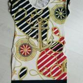 трикотажное платье туника в морском стиле