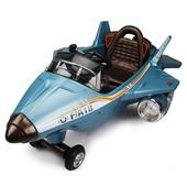 детский самолёт f/a 18: резиновые колёса, mp3, пульт 2,4 g - синий