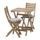 Стол + 2 стула для саду Askholmen Ikea (Икеа)