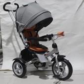 Кросер Т 503 детский трёхколёсный велосипед Crosser Т-503 фара, накачка модель 2017 года