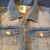 Жилет джинсовый на девочку Denim H&M 128 бу отл.сост-ие