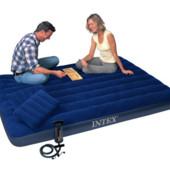 Двухместный матрас Intex (Интекс) 68765 + насос и 2 подушки