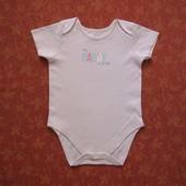 Бодик на 18-24 месяцев Mothercare, б/у. Хорошее состояние, без пятен. Длина от плеча застегнутого 45