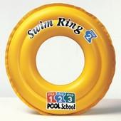 Детский надувной круг Intex 58231 Deluxe swim ring pool school step 2 (3-6 лет)