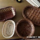 плетені корзини посуд/декор