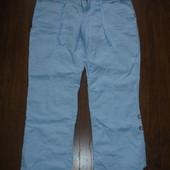 Фирменные от Primark льняные брюки прямого покроя на 50 размер