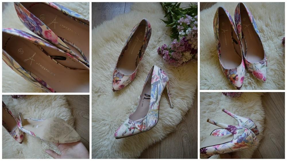 Нежные туфли-лодочки в цветах р-р 39 фото №1