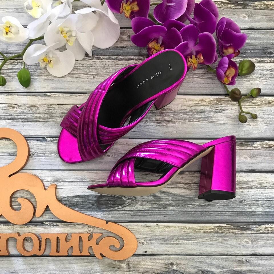 Трендовые мюли New Look на толстом каблуке с декоративными лямками  SH2599 фото №1