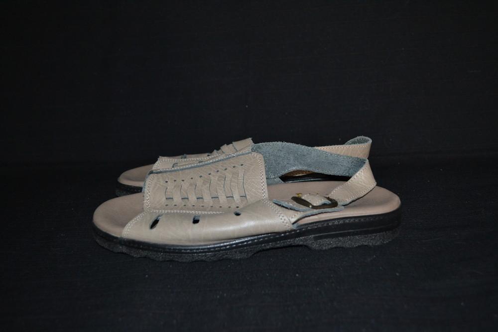 кофейные кожаные сандали, р. 42 фото №1
