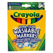 Широкие смываемые фломастеры Crayola Супер чисто 8 шт с толстым наконечником
