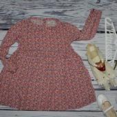 4 - 5 лет 110 см Обалденная Фирменное платье туника Next Некст цветочки