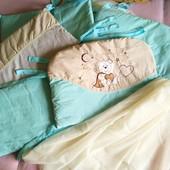 Защита,  бортики, бампер на детскую кроватку.
