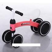 Беговел Baby-Bike 859-3 колеса EVA+кож сиденье, коралл