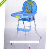 Стульчик для кормления + стульчик 2в1 M 3508-4, голубой ***