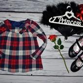 2 - 3 года 92 - 98 см рубашка блузка для модниц обалденно модная и эффектная клетка