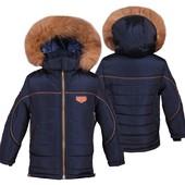 Куртка зимняя мальчику с натуральной опушкой