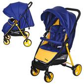 Детская прогулочная коляска Bambi M 3435-4 Prego, сине-желтый
