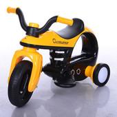 Детский электромобиль-мотоцикл Bambi 99123-6, желтый